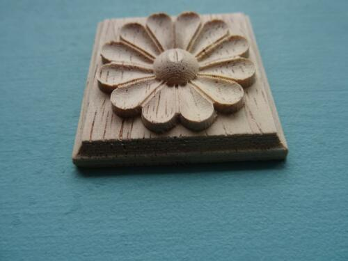 Decorative square flower tile wooden furniture moulding applique onlay DF16