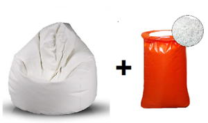 Palline Di Polistirolo Per Poltrona Sacco.Bepouf Poltrona Sacco Puf Pouf Vuoto Ecopelle Con Sacco Polistirolo