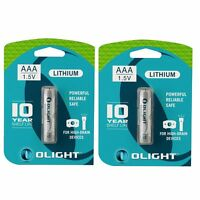 2pcs Olight Aaa 1100mah 1.5v Disposable Non-rechargeable Battery For Flashlight