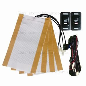 image is loading auto-seat-heater-universal-rectangle-rocker-switch-heated-