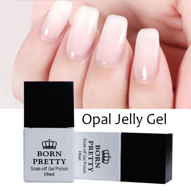 10ml Born Pretty Opal Jelly Gel Nail Art Uv Gel Polish White Soak