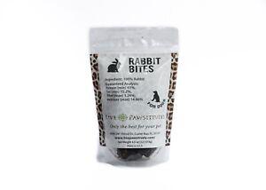 Live Pawsitively Rabbit Bites Single Ingredient Dog Treat 4.5oz Made in USA
