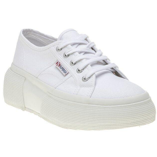 Superga 2287 Womens White Platform