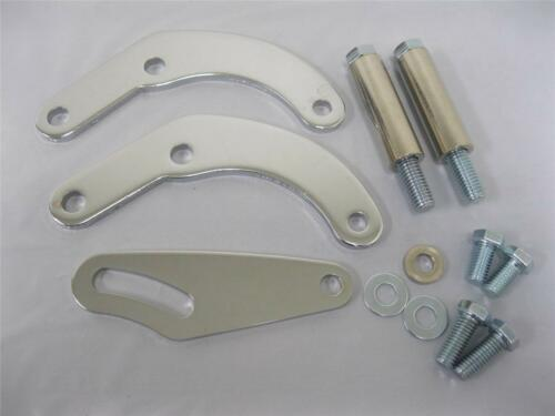 Big Block Chevy CHROME Power Steering Bracket for Short Water Pump Saginaw A Can