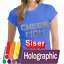 Siser-Holographic-HTV-Heat-Transfer-Vinyl-for-T-Shirts-20-034-by-12-034-Sheet-s miniatuur 1