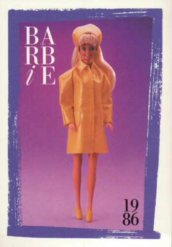"""Barbie Collectible Fashion Card  /"""" My First Barbie Fashions /""""  1986"""