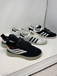 Size 11 - LOT of 3 Pairs adidas Superstar Gazelle Sobakov Shoes ...