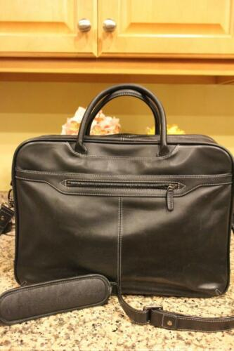 LEVENGER BLACK LEATHER BRIEFCASE  (300