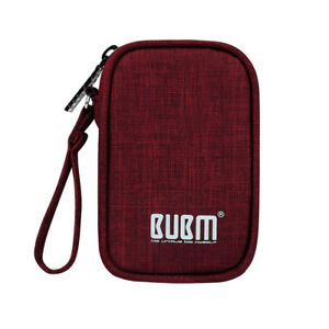 Waterproof-Travel-USB-Cable-Earphone-Flash-Drive-Zipper-Bag-Storage-Case-Red