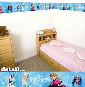 Disney-Eiskoenigin-Selbstklebend-Dekorative-Wand-Borduere-5-Meter-Insgesamt