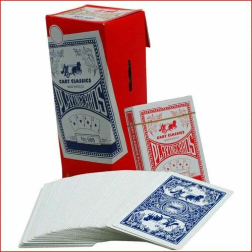 12 Pack Cart Classics Casino Poker Paper Playing Cards No.988 High Quality UK