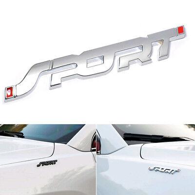 4pcs Metal Chrome Sport Racing Logo Car Trunk Fender Emblem Badge Decal Stickers