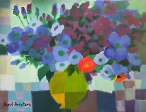 Peinture Figurative Raoul Bruckert Jazzman Acrylique Sur Toile 27 X 35 Cm Ebay