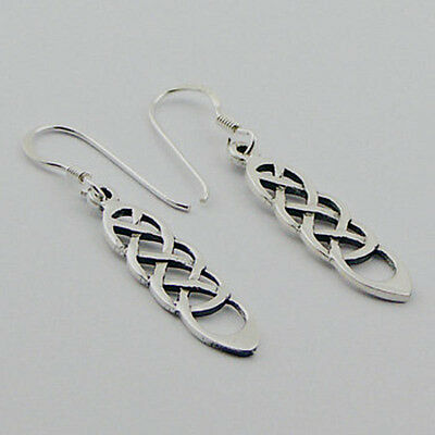 USA Seller Braid Celtic Hook Earrings Sterling Silver 925 Best Deal Jewelry Gift
