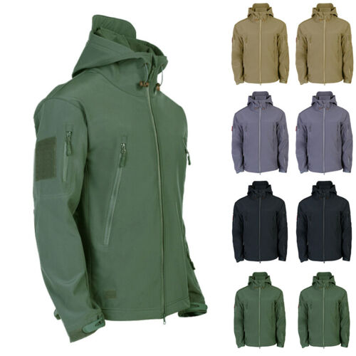 Waterproof Winter Mens Outdoor Jacket Tactical Coat Soft Shell Military PTH