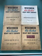 Wisconsin Air Cooled Engine Model Aenl Afh Agh Ahh Adh V 465d Instruction Book