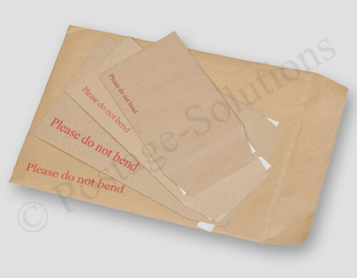 Brown CHEAPEST Hard Board Backed Manilla Envelope Do Not Bend A3 A4 A5 A6 DL A5