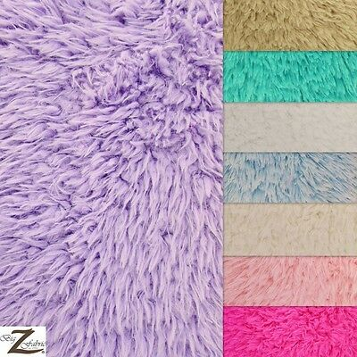 SOLID MONGOLIAN SHAGGY MINKY BABY SOFT FABRIC - 8 Colors - SOLD BY YARD WARM