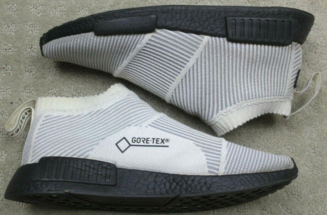 Men's Adidas NMD CS1 Gore-Tex PK White Black Size 10 Primeknit Ultra Boost