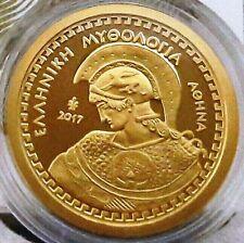 New █ Greece 100 Euro 2017 Athena+Owl █3.89 gr GOLD Proof 1200 pcs█ GRECIA GRECE