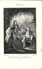 Stampa antica WIELAND Don Sjlvio von Rosalva II 1860 Antique print Alte stich