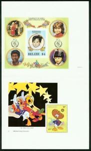Belize-1986-Christmas-Disney-amp-Peace-SSs-SE-TENANT-PAIR