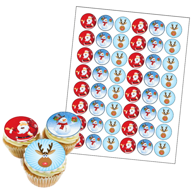 35 x Little Mermaid Edible Cup Cake Fairy Bun Toppers Party Premium Wafer 4cm