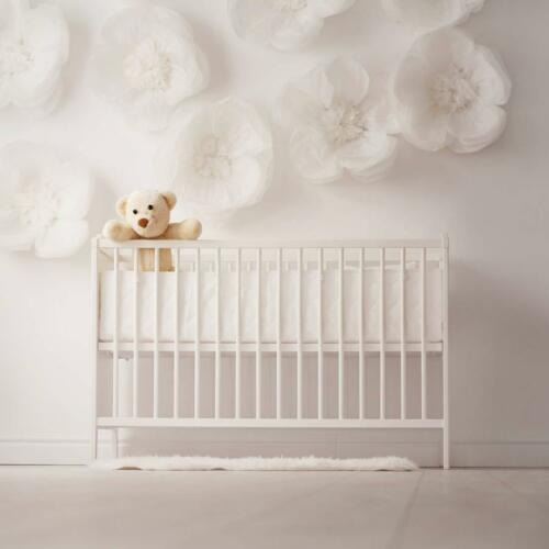 """Baby Crib Bumper Pads for Portable and Mini Cribs 24/""""x 38/"""" 4PCs Cover Breathable"""