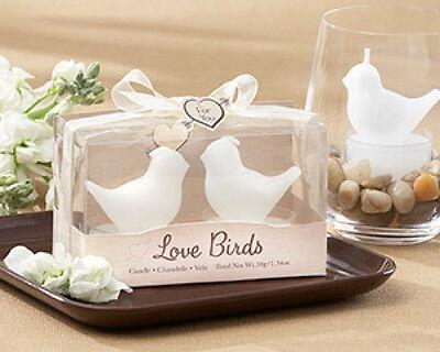Love Birds White Bird Tealight Candles Wedding Bridal Shower Favors