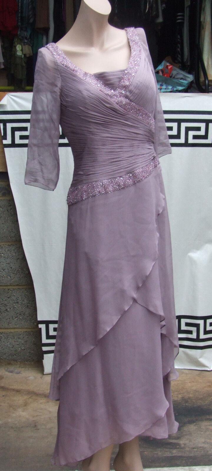 Camila Camila Camila Elbaz Spectacular Beaded Pleated Mink Pink Silk Evening Gown Dress 10 59a5ed