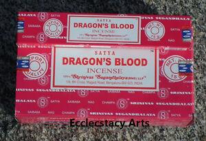 Satya-Nag-Champa-Dragons-Blood-Incense-Sticks-15-Grams-1-2-3-5-6-12-U-Pick