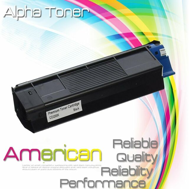 Oki C3200n 43034804 BLACK Genuine Ink Toner Cartridge OEM from manufacturer