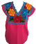 Floral-Mexican-Blouse-Embroidered-Made-in-Mexico-Handmade-Cotton-Pink thumbnail 7