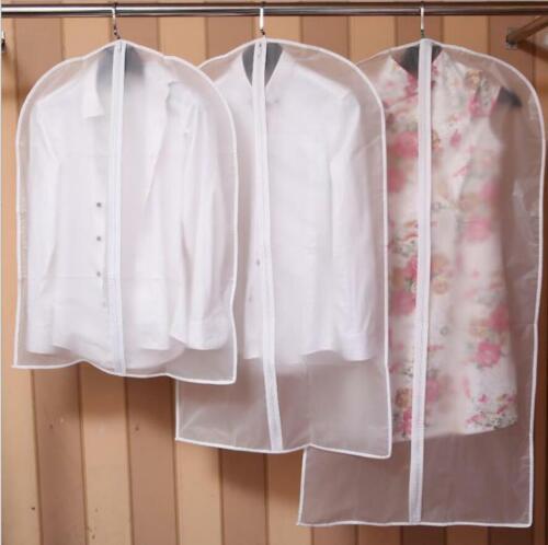 Clear Dust-proof Dress Clothes Cover Suit Dress Garment Bag Storage Protector M