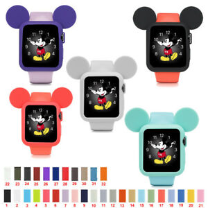 new concept aa651 f38a6 Silicon Sports Band Straps Mickey Mouse Case for Apple Watch ...