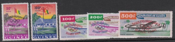 Jeux Olympiques: 1960 Guinée Jeune Jeux Olympiques Opte Ensemble Sg 248-52 Never-hinged Mint Gagner Les éLoges Des Clients