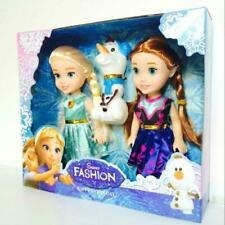 hotsale-Playset Frozen Princess Elsa-Anna-Olaf Doll Figures Birthday Gift 3*pcs