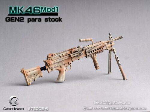 CRAZY DUMMY 1//6 MK46 MOD1 Gen2 Para Stock Camo for Action Figure #CD-75002-6