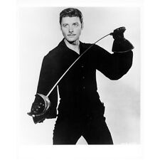 Guy Williams as Zorro Holding Sword Wearing All Black 8 x 10 inch photo