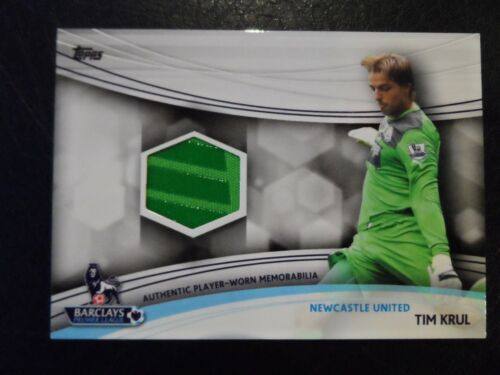 2013 Topps Premier League Gold Memorabilia Card 'Tim Krul' Newcastle United