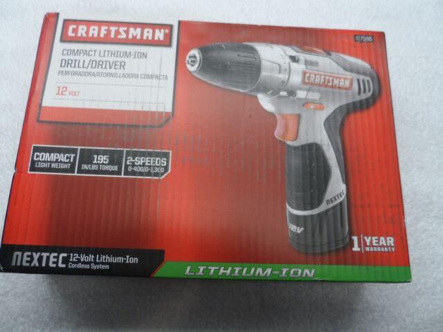Craftsman Nextec 12-volt Compact Drill & Driver Kit - Part # 17586