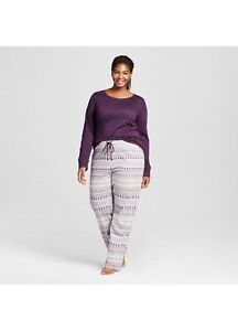 77264456a958 Details about NWT Gilligan   O Malley Women s Size Small Purple 3-Piece Pajama  Set