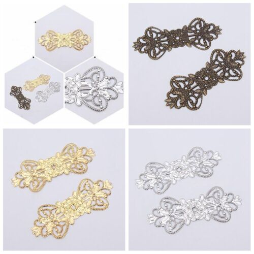 100pcs DIY Making Crafts Antique Metal Filigree Wraps Connectors Embellishments