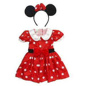 cafae9656dcb Disney Infant Girls Minnie Mouse Costume Red Polka Dot Baby Dress ...