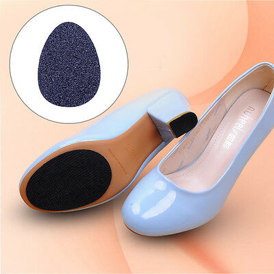 Hot 5Pairs Black Anti-Slip Shoes Heel Sole Grip Non-Slip Cushion Protector Pads