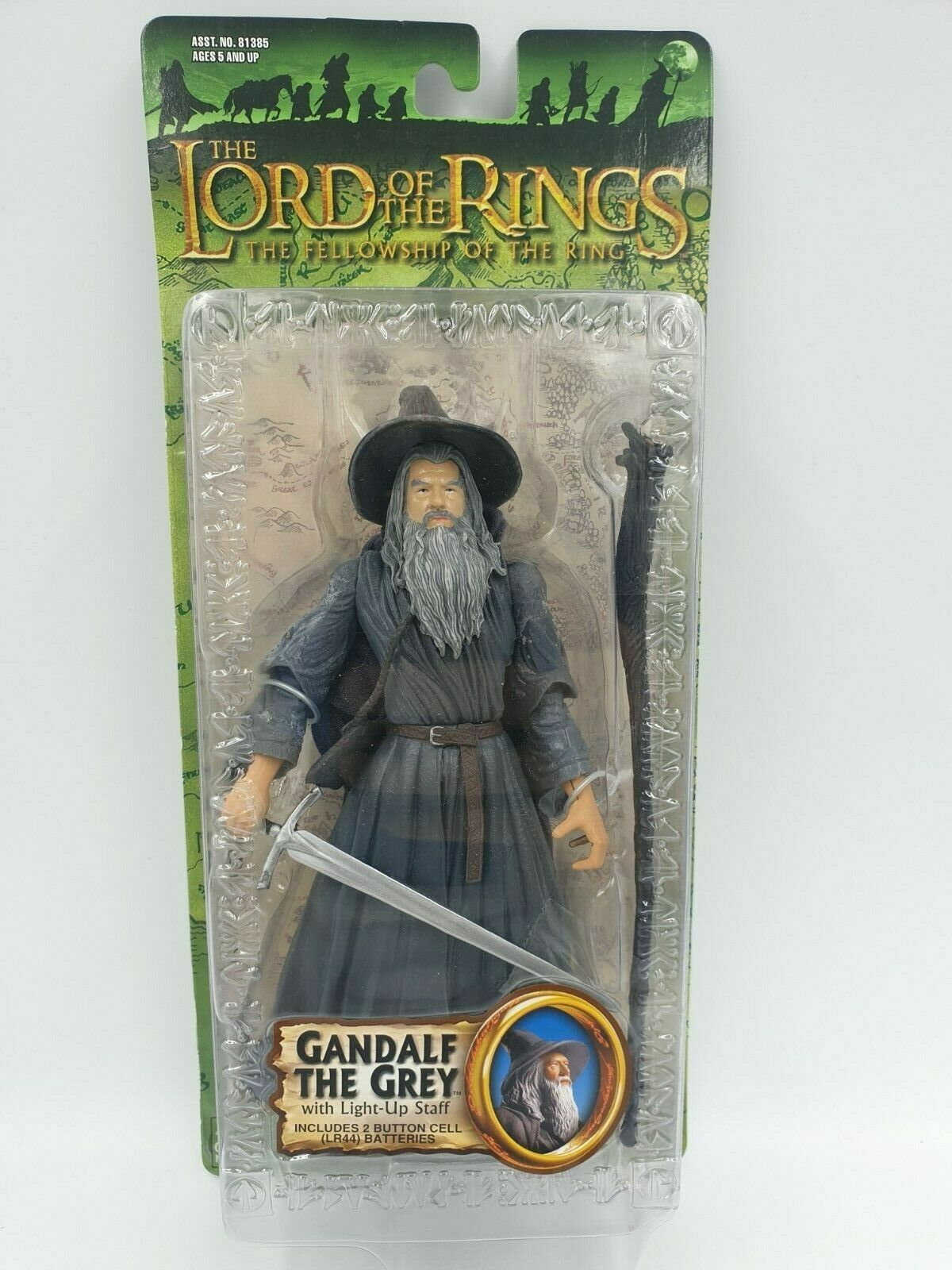Lord of the rings action figure GANDALF THE grau toybiz LOTR RARE MINT NEW