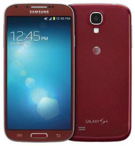 Samsung Galaxy S4 Sgh I337 16gb Red Aurora Att Smartphone For