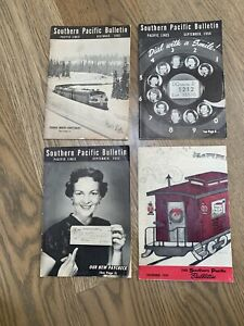 Southern-PACIFIC-BULLETIN-4-Volumes-1952-1953-1956-1959