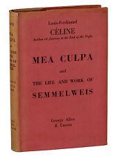 Mea Culpa & Life of Semmelweis LOUIS-FERDINAND CELINE ~ First Edition 1937 1st