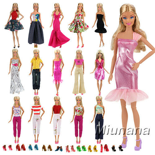 Bundle 5 Random Style Fashion Handmade Clothes Outfit 10 Shoes For Barbie Doll For Sale Online Ebay